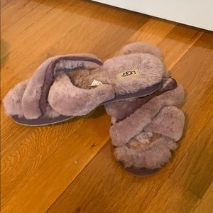 Purple Ugg slippers